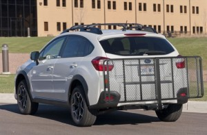 folding hitch mounted cargo carrier